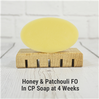 Honey & Patchouli FO in CP Soap