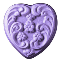 Floral Heart Soap Mold (MW 73)