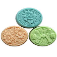 Floral Ovals Soap Mold (MW 74)