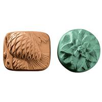 Pinecones & Poinsettias Guest Soap Mold (Spec Ord)