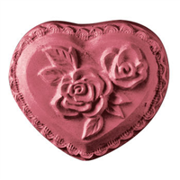 Heart with Roses Soap Mold (MW 85)