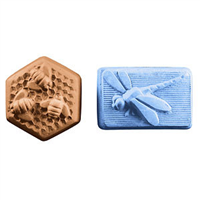 Bees & Dragonfly Guest Soap Molds (MW 90)