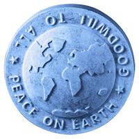 Peace Globe Soap Mold (MW 127)