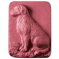 "1 paw mold 3.25/""   1  dog mold 2.25/""  poly plastic moulds  1 each"