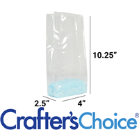 "Premium Crystal Clear Cello Bags (4""x2.5""x10.25"")"