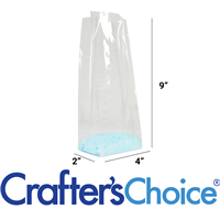 "Premium Crystal Clear Cello Bags (4"" x 2"" x 9"")"