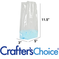 "Premium Crystal Clear Cello Bags (5"" x 3"" x 11.5"")"