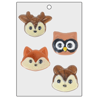 Woodland Animal Face Mold (LOP 72)