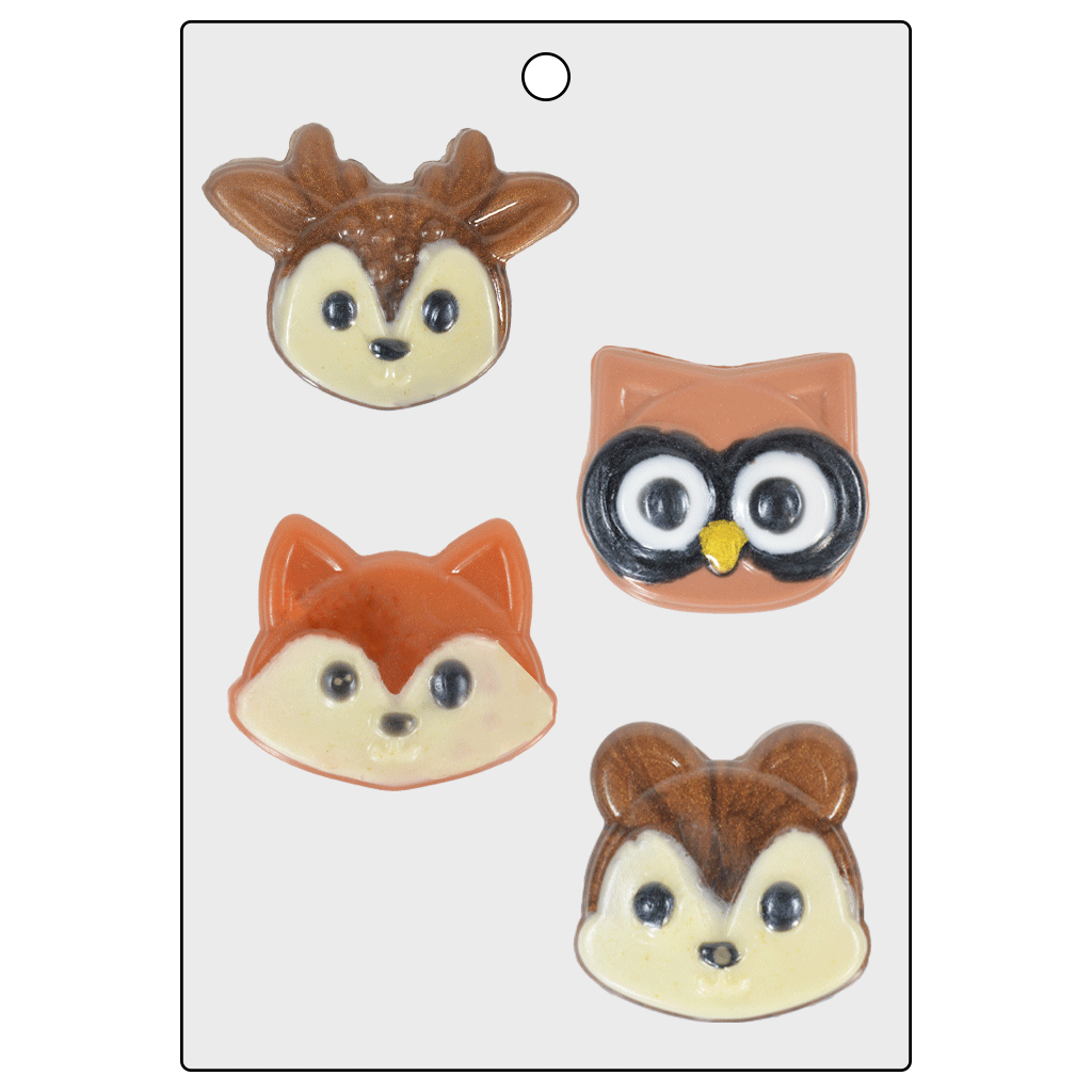 Life Of The Party™ Woodland Animal Face Mold (LOP 72)